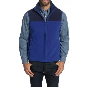 Brooks Brothers blue colorblock lightweight vest